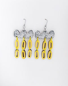 Päivä Earrings Yellow