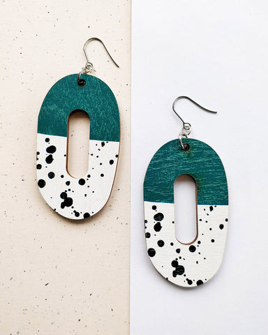 Rinkeli Earrings Green