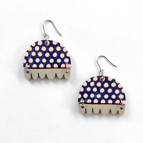 Kissankello Earrings Dark blue/Gray