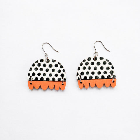 Kissankello Earrings Black/Orange