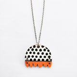 KISSANKELLO NECKLACE Black/Orange