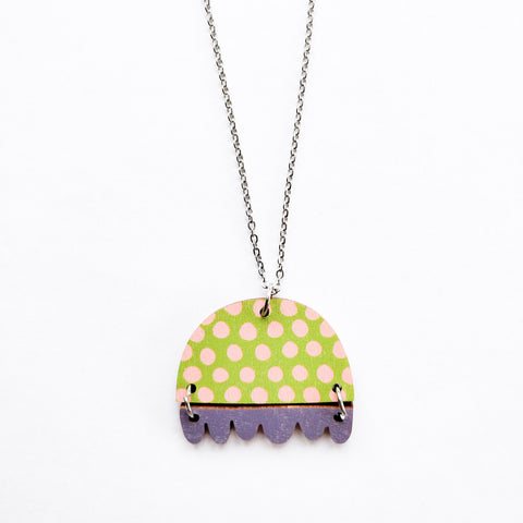 KISSANKELLO NECKLACE Lime/Lilac
