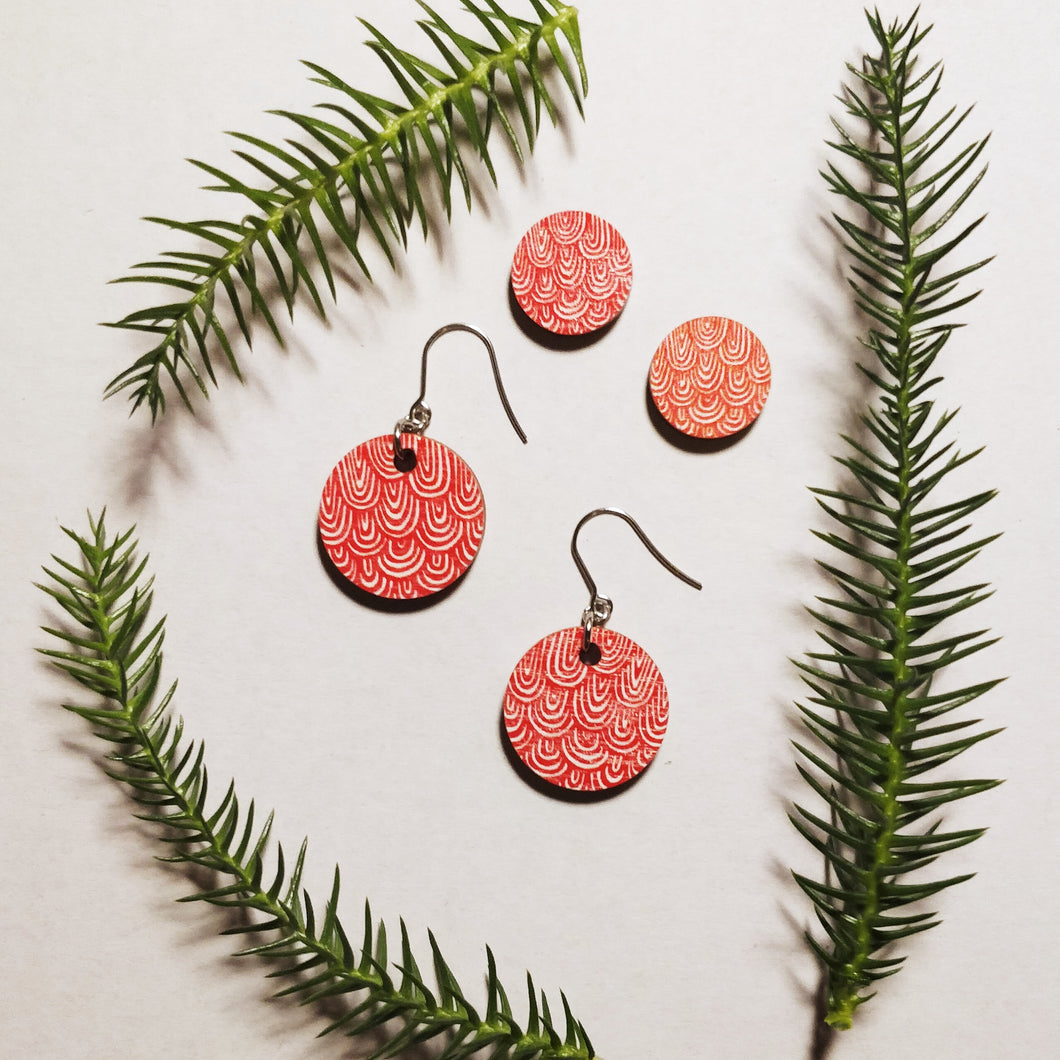 Laine Earrings Red