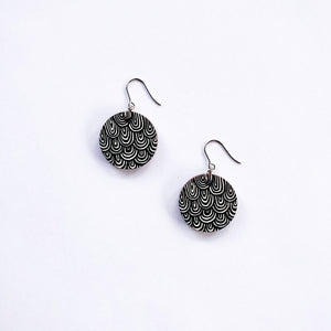 Laine Earrings Large Black