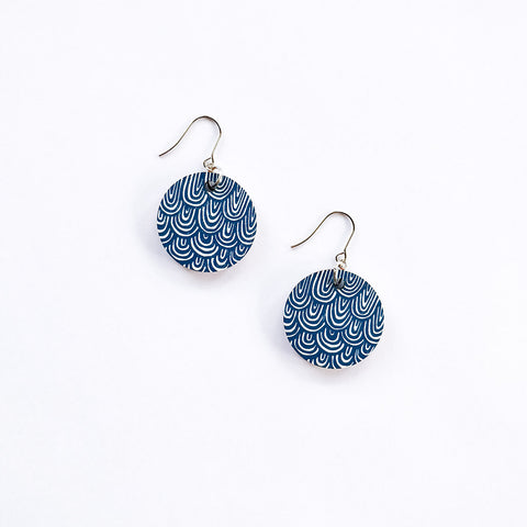 Laine Earrings Large Blue