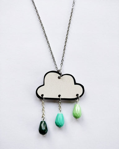 Pouta Necklace Green