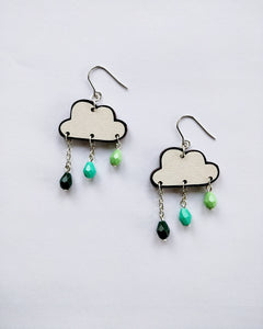 Pouta Earrings Green