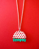 Kissankello Necklace Red/Turquoise