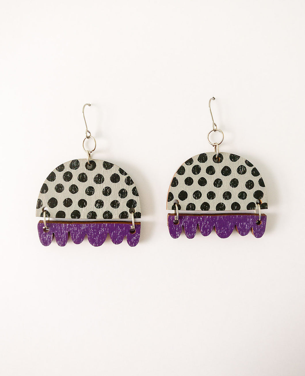 Kissankello Earrings Black/Purple