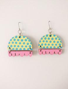 Kissankello Earrings pastel blue/pink