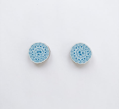 Sydänkäpy Mini Earrings Light Blue