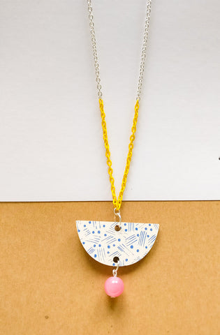 Vene Necklace Yellow/white/pink
