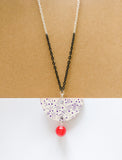 Vene Necklace Black/White/Red