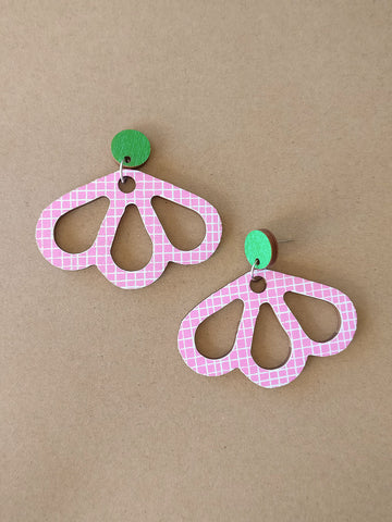 Tuomi Earrings Pink/Green