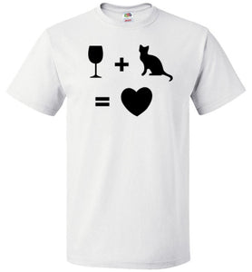 Wine Plus Cat Equals Love