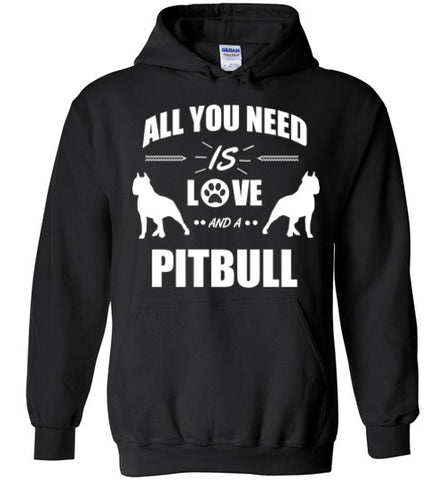 All You Need Is Love - Pit Bull - Hoodie - Tail Threads