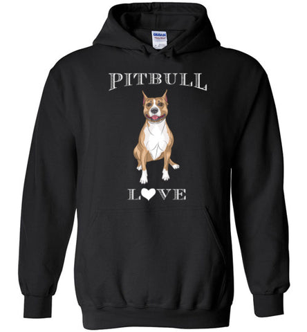Pitbull Love Heart - Hoodie - Tail Threads