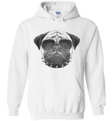 Bad Boy Pug - Hoodie - Tail Threads