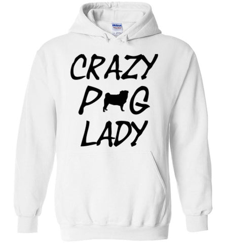 Crazy Pug Lady - Hoodie - Tail Threads