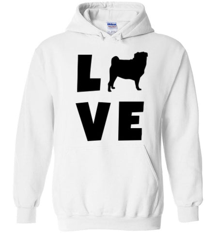 Pug Love - Hoodie - Tail Threads