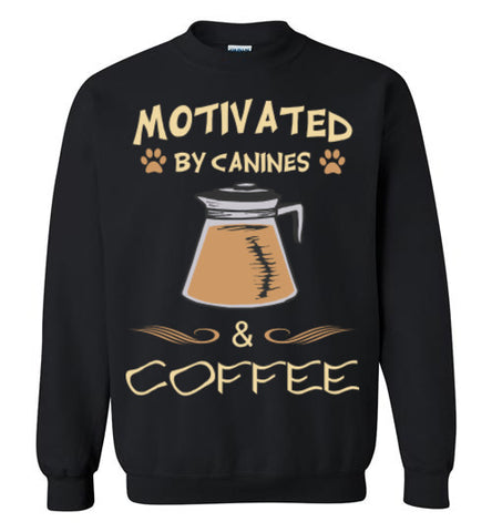 Motivated by Canines & Coffee - Crew Neck - Tail Threads