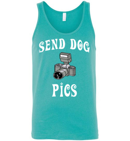 Send Dog Pics - Unisex Tank - Tail Threads