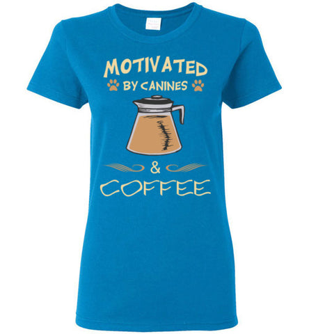 Motivated by Canines & Coffee - Ladies Cut - Tail Threads