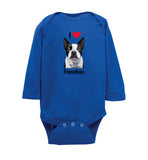 I Love Frenchies - Infant Long Sleeve Onesie