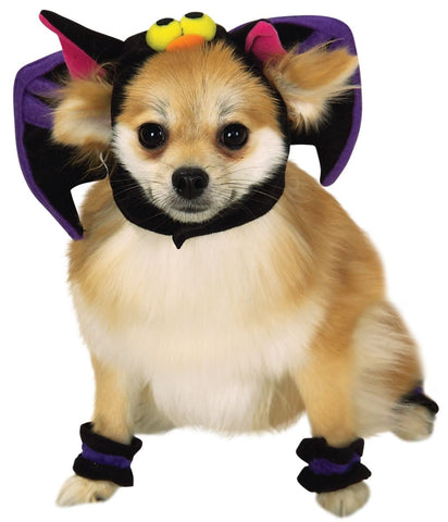 Bat Headpiece With 4 Pawcuffs Pet Costume-Pet Costume-1-Classic Horror Shop