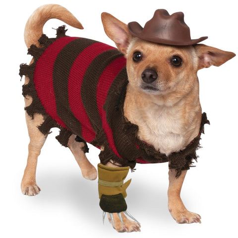 A NIGHTMARE ON ELM ST - Freddy Krueger Pet Costume-Pet Costume-1-Classic Horror Shop