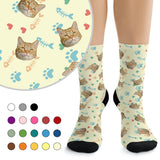Custom Socks - Hearts, Fish Bones, Paws (color)