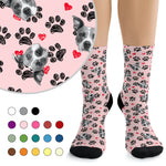 Custom Socks - Paws & Hearts