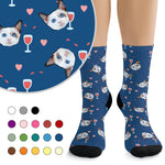 Custom Socks - Wine & Hearts