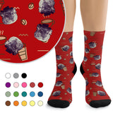 Custom Socks - Coffee