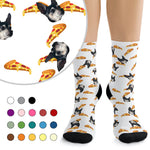 Custom Pet Photo Socks - Pizza