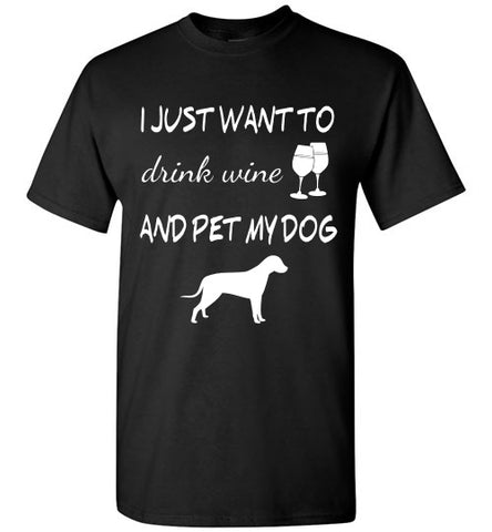 Drink Wine & Pet My Dog - Tail Threads