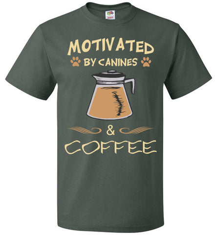 Motivated by Canines & Coffee - Unisex - Tail Threads