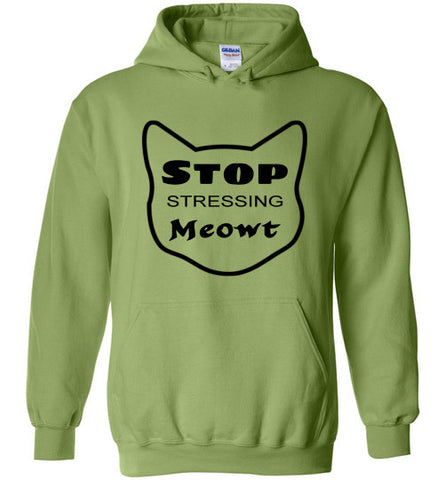 Stop Stressing Meowt - Hoodie - Tail Threads