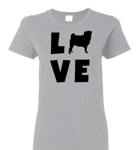 Pug Love - Ladies Cut - Tail Threads