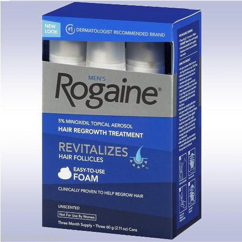 3 Month Supply Rogaine Foam Minoxidil 5% Men Hair Loss
