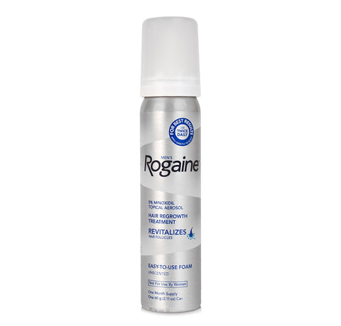 1 Month Supply Rogaine Foam 5% Minoxidil Men Hair Loss