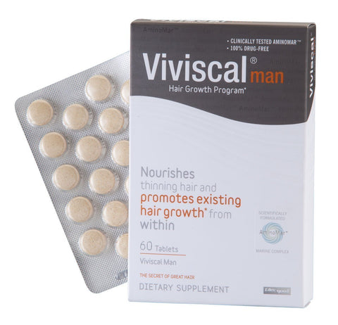 2 * VIVISCAL MAN SUPPLEMENTS 120 CAPSULES ( Pack of Two )
