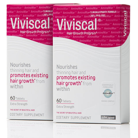 2 * VIVISCAL MAXIMUM STRENGTH SUPPLEMENTS (120 TABLETS) - Pack of Two