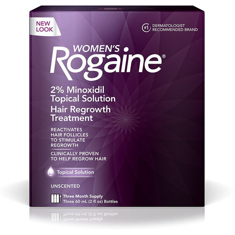 3 Month Supply Women's Rogaine Treatment for Hair Loss and Hair Thinning Minoxidil Solution