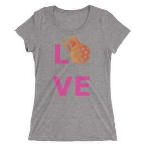 "Ladies' Pink ""LOVE"" Pickleball Tee"