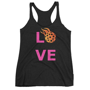 "Women's ""LOVE"" Pickleball racerback tank top"