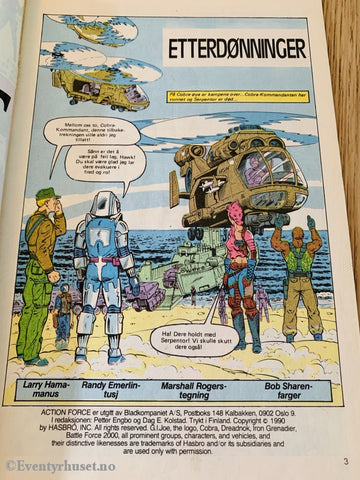 Action Force. 1990/04. Tegneserieblad