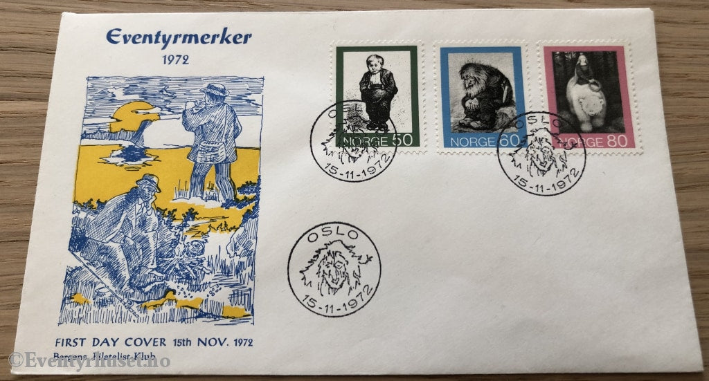 Asbjørnsen Og Moe. First Day Cover. 15.11.1972. Cover