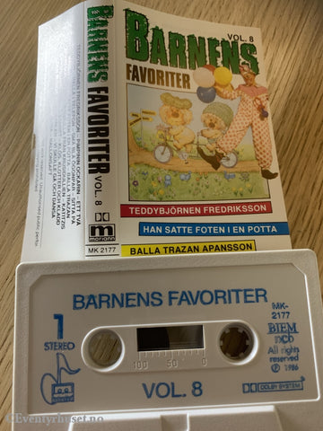 Barnens Favoriter. Vol. 8. 1986. Kassett. Svensk Tale. Kassett (Mc)