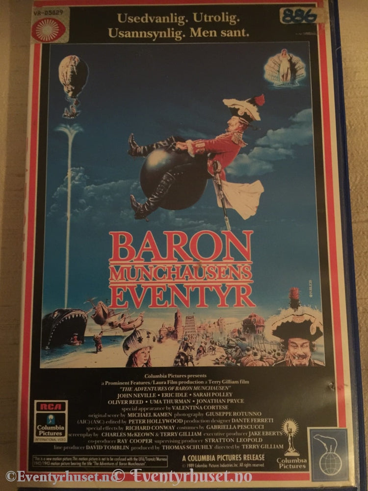 Baron Munchausens Eventyr. Vhs Big Box.